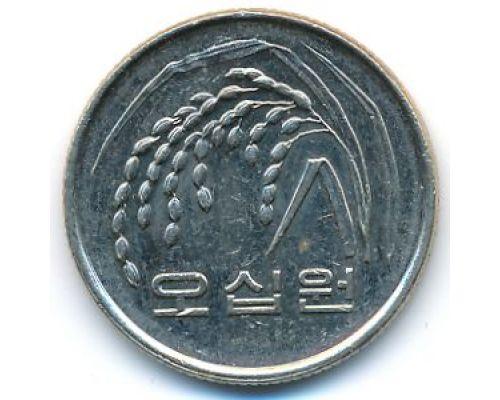 50 вон 2008 год Южная Корея