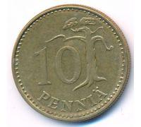 10 пенни 1974 год Финляндия