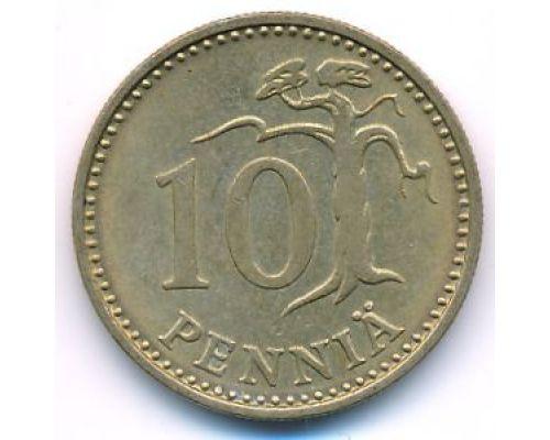 10 пенни 1975 год Финляндия