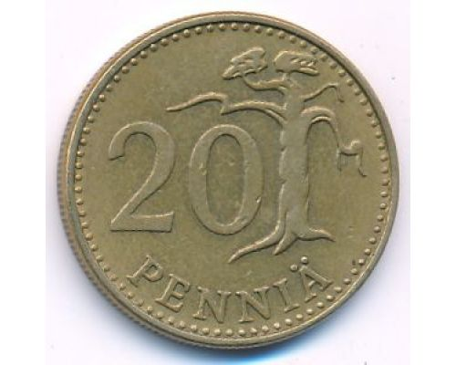 20 пенни 1965 год Финляндия