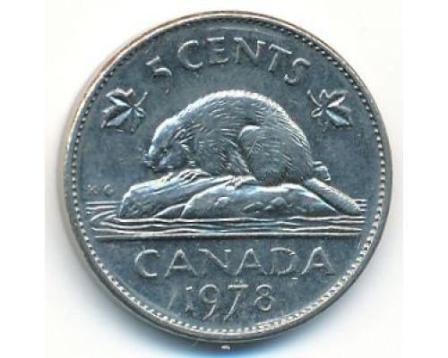 5 центов 1978 год Канада