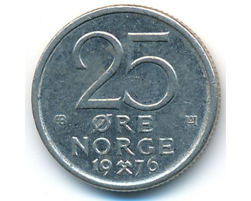 25 эре 1976 год Норвегия