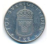 1 крона 1977 год Швеция