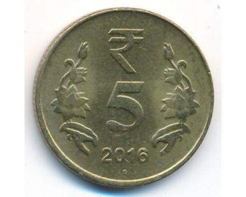 5 рупий 2016 год Индия