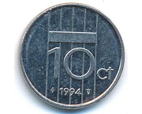 10 центов 1994 года Нидерланды