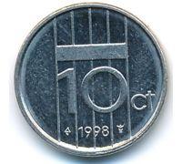 10 центов 1998 год Нидерланды