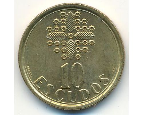 10 эскудо 1986 год Португалия