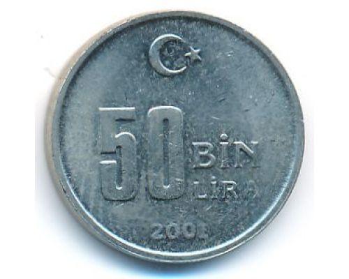 50000 лир 2001 год Турция