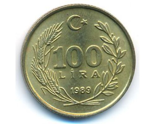100 лир 1989 год Турция