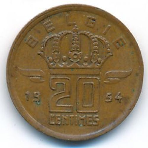 20 сентим 1954 год Бельгия