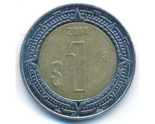 1 новый песо 2014 год Мексика