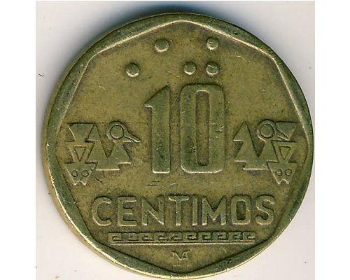 10 сентимо 1996 год Перу