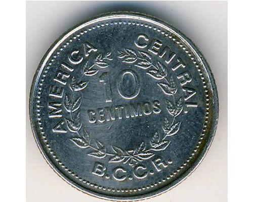 10 сентимо 1976 год Коста-Рика