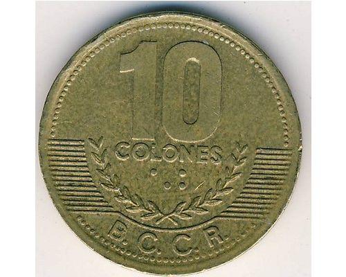10 колон 2002 год Коста-Рика