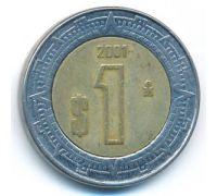 1 новый песо 2001 год Мексика