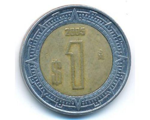 1 песо 2005 год Мексика