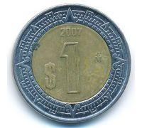 1 новый песо 2007 год Мексика
