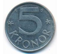 5 крон 1991 год Швеция