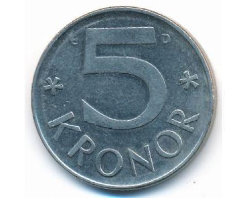 5 крон 1980 год Швеция