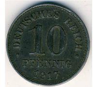 10 пфеннигов 1917 год Германия