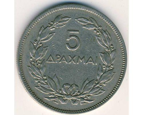 5 драхм 1930 год Греция