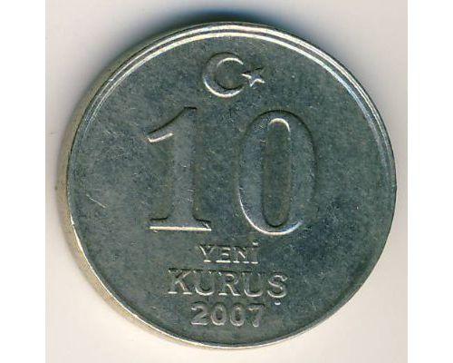 10 новых куруш 2007 год Турция