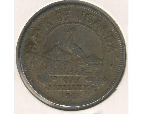 1 шиллинг 1968 год Уганда