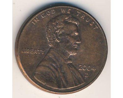 1 цент 2004 год D США