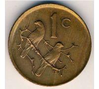 1 цент 1970 год ЮАР Птицы