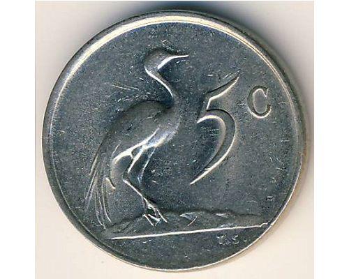 5 центов 1982 год ЮАР