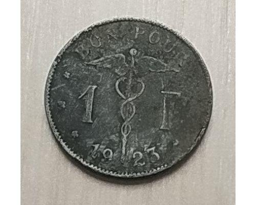 1 франк 1923 год Бельгия BELGIQUE состояние VG