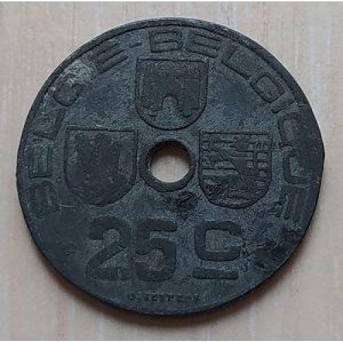 25 сентим 1944 год Бельгия BELGIE-BELGIQUE (2)