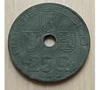 25 сентим 1946 год Бельгия BELGIE-BELGIQUE