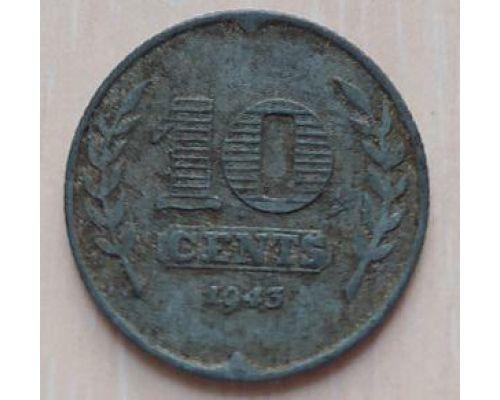 10 центов 1943 года Нидерланды (2)