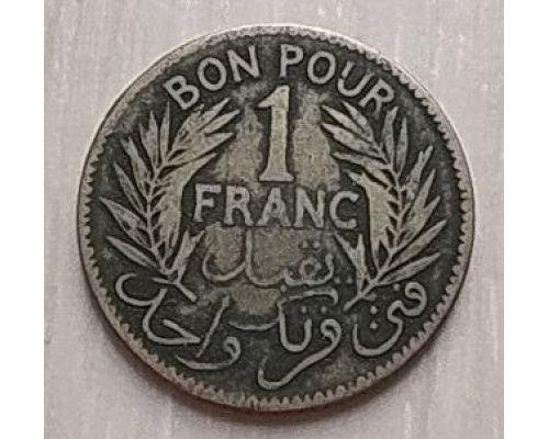 1 франк 1921 год Тунис