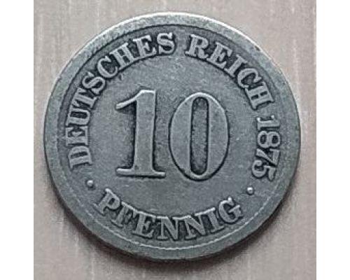 10 пфенингов 1875 год Германия