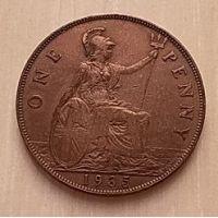 1 пенни 1935 год Великобритания