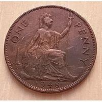 1 пенни 1948 год Великобритания