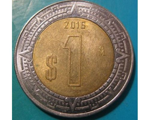 1 новый песо 2016 год Мексика