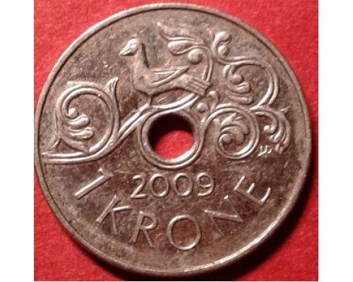 1 крона 2009 год Норвегия