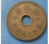 5 иен 1984 год Япония Сёва Хирохито