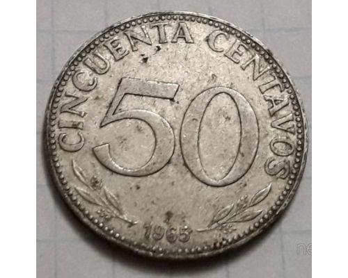 50 сентаво 1965 год Боливия