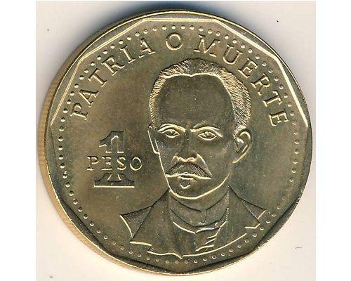 1 песо 1992 год Куба