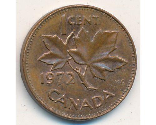 1 цент 1972 год Канада