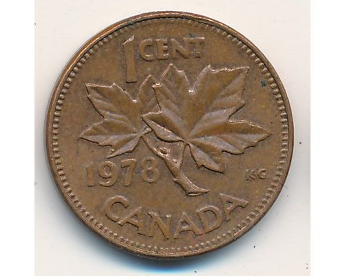1 цент 1978 год Канада