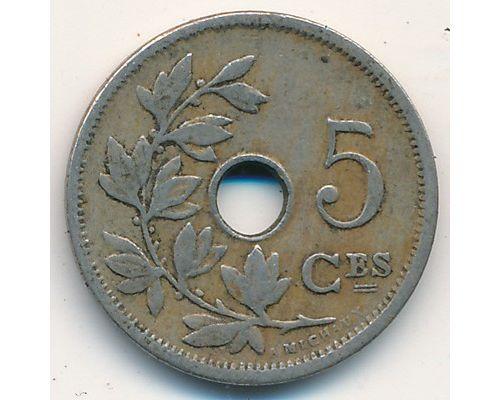 5 сентим 1906 год Бельгия BELGIQUE состояние VG