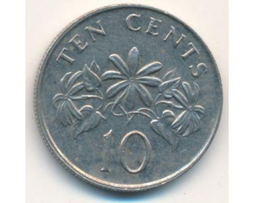 10 центов 1991 год Сингапур