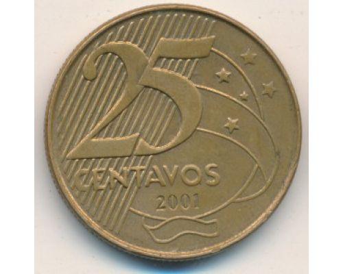 25 сентаво 2001 год Бразилия