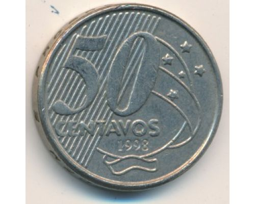 50 сентаво 1998 год Бразилия