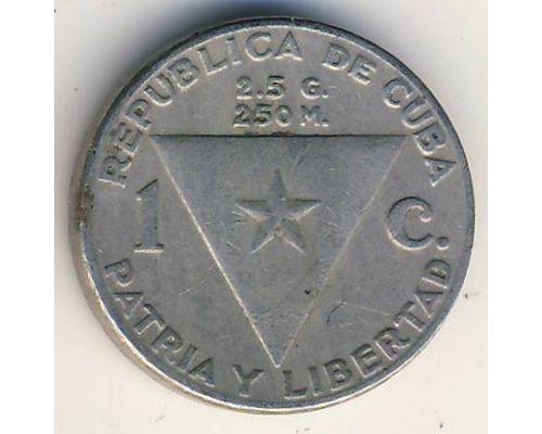 1 сентаво 1958 год Куба